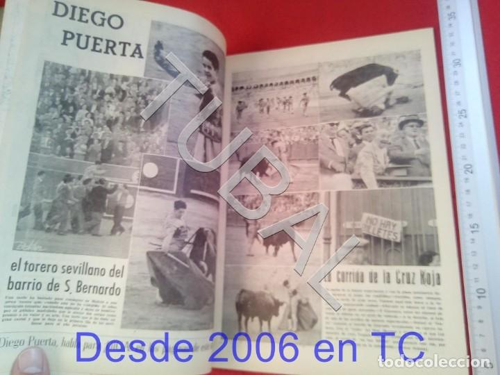 Coleccionismo deportivo: TUBAL OIGA 132 REVISTA TAUROMAQUIA FUTBOL 1956 BETIS SEVILLA F C U21 - Foto 2 - 195490762