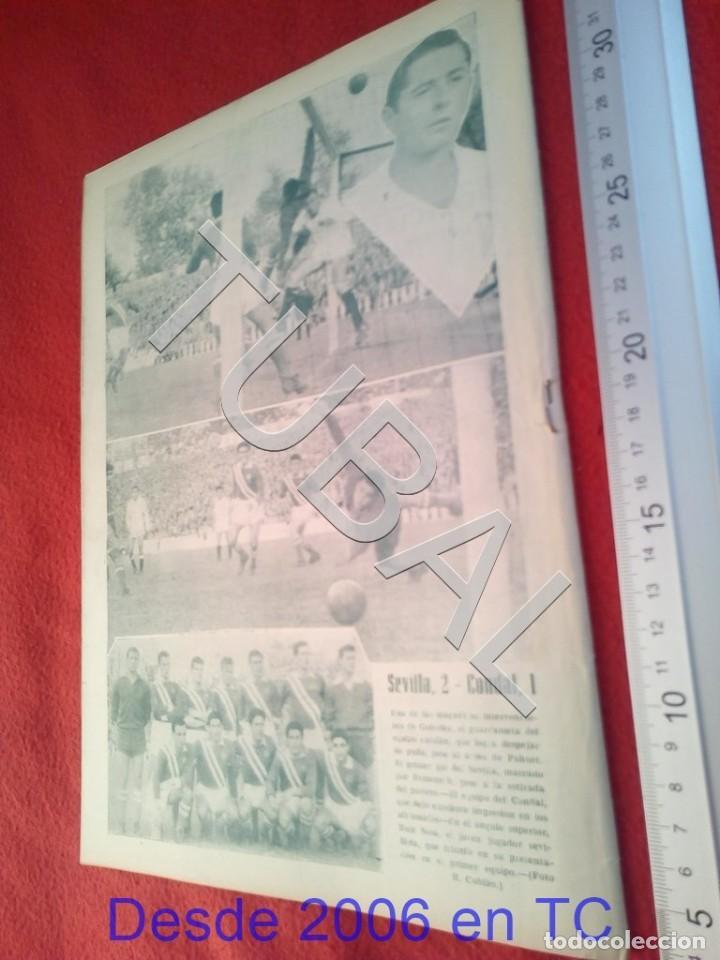 Coleccionismo deportivo: TUBAL OIGA 132 REVISTA TAUROMAQUIA FUTBOL 1956 BETIS SEVILLA F C U21 - Foto 3 - 195490762