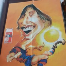 Coleccionismo deportivo: FUTBOLIN LA LIGONA 1973 POSTER DE CRUYFF DE ORTUÑO. Lote 195792683