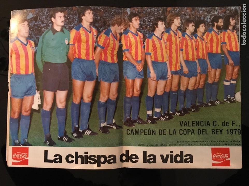 Coleccionismo deportivo: Revista fútbol Valencia campeón copa del rey 1979 - as marca sport don balón cromos póster álbum - Foto 2 - 196205828