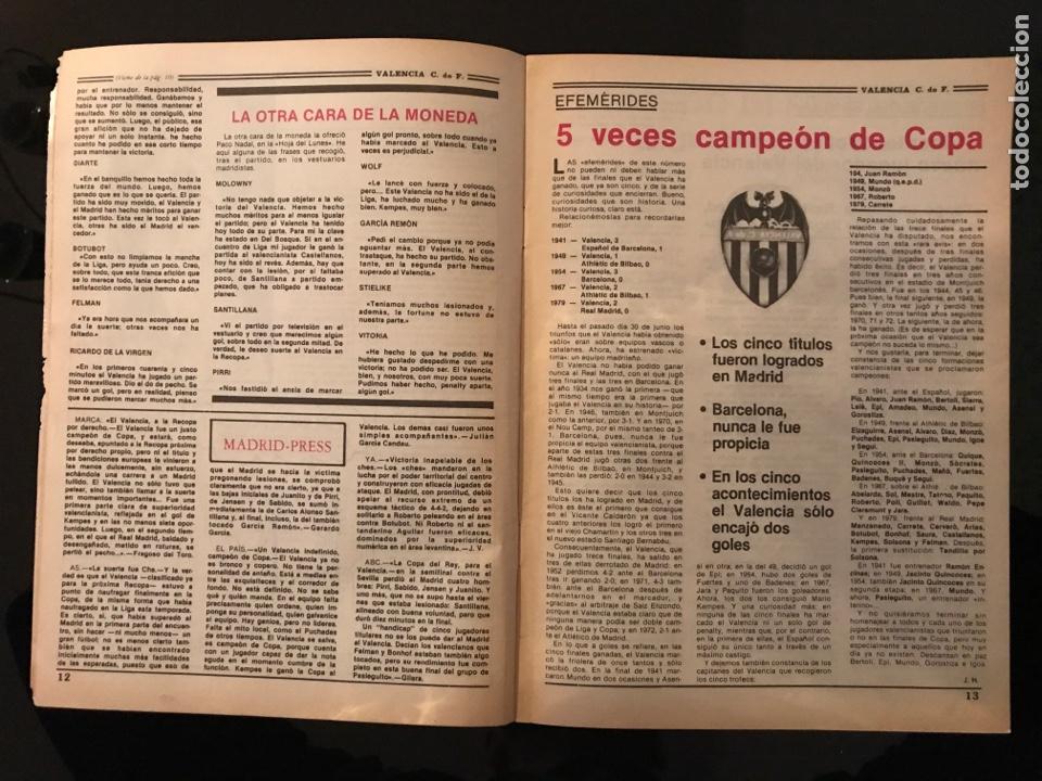 Coleccionismo deportivo: Revista fútbol Valencia campeón copa del rey 1979 - as marca sport don balón cromos póster álbum - Foto 3 - 196205828