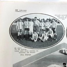 Collectionnisme sportif: RETAL 1913. FUTBOL. EL EQUIPO DE BARCELONA.1 PÁGINA REVISTA BLANCO Y NEGRO 28/9/1913. Lote 196398546