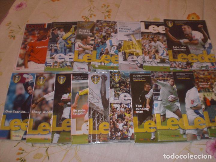 COLECCIÓN PROGRAMAS DEL LEEDS UNITED (INGLATERRA (1978/79 A 2007/08) (MÁS DE 900) (Coleccionismo Deportivo - Revistas y Periódicos - otros Fútbol)