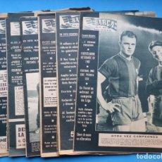 Coleccionismo deportivo: 18 ANTIGUAS REVISTAS FUTBOL - BARÇA - AÑOS 1959-1960-1961-1963 - VER FOTOS ADICIONALES. Lote 196649577