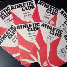 Coleccionismo deportivo: LOTE 8 PROGRAMAS OFICIALES - ATHLETIC CLUB - TEMPORADA 1970 / 71 - NUM. 3, 4, 7, 8, 9, 10, 12, 27. Lote 195567897