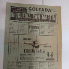 Coleccionismo deportivo: GOLEADA 16 FEBRERO 1958 / JAEN 0 REAL SOCIEDAD 1 ANUNCIOS DE SAN SEBASTIAN . Lote 196664855