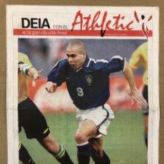 Coleccionismo deportivo: ATHLETIC CLUB BILBAO VS SELECCIÓN BRASIL. SUPLEMENTO DEL DIARIO DEIA POR EL PARTIDO (1998). POSTER.. Lote 196902742