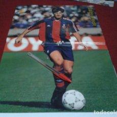 Coleccionismo deportivo: POSTER F.C. BARCELONA ( MICHAEL LAUDRUP + THOMAS BROLIN ) . Lote 197059030