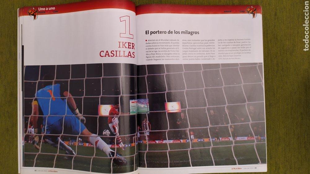 Coleccionismo deportivo: REVISTA ESPECIAL LA VOZ DE GALICIA. ESPAÑA CAMPEONA DEL MUNDO 2010. NUEVA 122 PÁGINAS - Foto 5 - 197775707