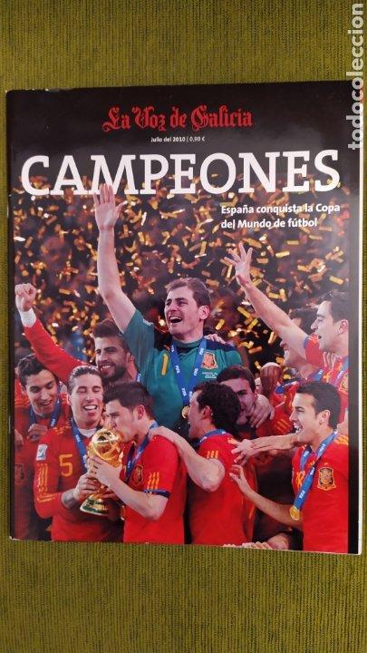 REVISTA ESPECIAL LA VOZ DE GALICIA. ESPAÑA CAMPEONA DEL MUNDO 2010. NUEVA 122 PÁGINAS (Coleccionismo Deportivo - Revistas y Periódicos - otros Fútbol)