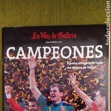 Coleccionismo deportivo: REVISTA ESPECIAL LA VOZ DE GALICIA. ESPAÑA CAMPEONA DEL MUNDO 2010. NUEVA 122 PÁGINAS. Lote 197775707