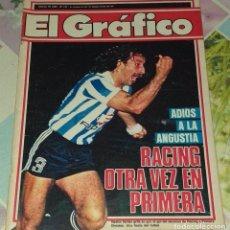 Coleccionismo deportivo: REVISTA EL GRAFICO DE ARGENTINA RACING CLUB A PRIMERA DIVISION . Lote 197816692