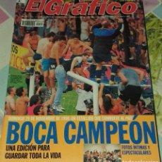Coleccionismo deportivo: REVISTA EL GRAFICO DE ARGENTINA BOCA JUNIORS CAMPEON DICIEMBRE 1998. Lote 197817703