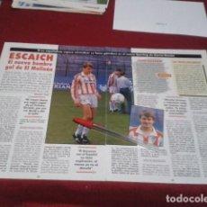 Collectionnisme sportif: POSTER 2 HOJAS REVISTA ( ESCAICH - ENTREVISTA ) SPORTING DE GIJON. Lote 198663587