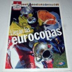 Coleccionismo deportivo: ESPECIAL COLECCIONABLE INTERVIU - EQUIPOS DE LEYENDA DEL FUTBOL EUROPEO - LLEGAN LAS EUROCOPAS. Lote 199036401