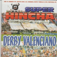Collectionnisme sportif: REVISTA SUPER HINCHA 141 AGOSTO 2005 ULTRAS HOOLIGANS. Lote 278414023