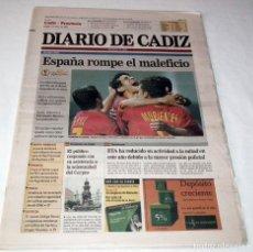 Coleccionismo deportivo: DIARIO DE CADIZ MUNDIAL KOREA-JAPAN 2002 ESLOVENIA - ESPAÑA SELECCION ESPAÑOLA FUTBOL - LA ROJA. Lote 48474667