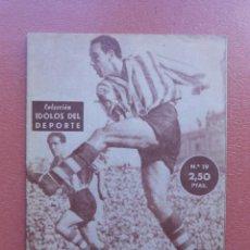 Collectionnisme sportif: ANTIGUA REVISTA COLECCION IDOLOS DEL DEPORTE - Nº 19 - ZARRA - AÑOS 50. Lote 199198318