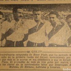 Coleccionismo deportivo: ALFREDO DI STEFANO. REVISTA RIVER PLATE NÚMERO 152 DE 7 AGOSTO 1947. Lote 199247317