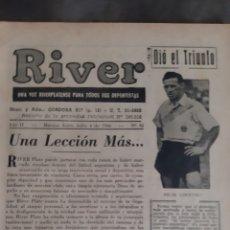 Coleccionismo deportivo: ALFREDO DI STEFANO. REVISTA RIVER PLATE NÚMERO 95 DE 4 JULIO 1946.. Lote 199296545