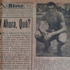 Coleccionismo deportivo: ALFREDO DI STEFANO. REVISTA RIVER PLATE NÚMERO 112 DE 31 OCTUBRE 1946. Lote 199296742