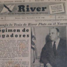 Coleccionismo deportivo: ALFREDO DI STEFANO. REVISTA RIVER PLATE NÚMERO 114 DE 14 NOVIEMBRE DE 1946. Lote 199297215
