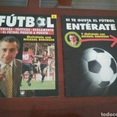 Coleccionismo deportivo: REVISTA DE FÚTBOL DE MICHAEL ROBINSON AÑOS 90. Lote 199297538