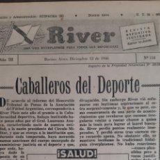 Coleccionismo deportivo: ALFREDO DI STEFANO. REVISTA RIVER PLATE NÚMERO 118 DE 12 DICIEMBRE 1946. Lote 199297840