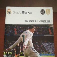 Coleccionismo deportivo: PROGRAMA OFICIAL REAL MADRID 2018.REAL MADRID - ATHLETIC. Lote 199305240