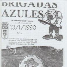 Coleccionismo deportivo: FANZINE BRIGADAS AZULES NÚMERO 11 OVIEDO ULTRAS HOOLIGANS. Lote 199329988