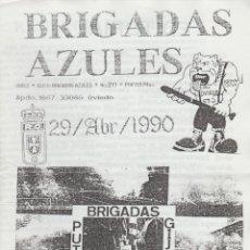 Coleccionismo deportivo: FANZINE BRIGADAS AZULES NÚMERO 20 OVIEDO ULTRAS HOOLIGANS. Lote 199330031