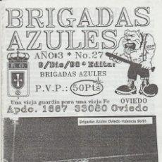 Coleccionismo deportivo: FANZINE BRIGADAS AZULES NÚMERO 27 OVIEDO ULTRAS HOOLIGANS. Lote 199330252