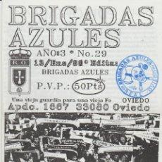 Coleccionismo deportivo: FANZINE BRIGADAS AZULES NÚMERO 29 OVIEDO ULTRAS HOOLIGANS. Lote 199330281