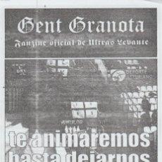 Collezionismo sportivo: FANZINE GENT GRANOTA 73 ULTRAS LEVANTE HOOLIGANS. Lote 199780991