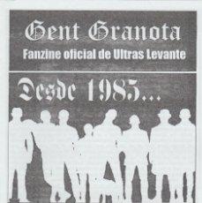 Collezionismo sportivo: FANZINE GENT GRANOTA 74 ULTRAS LEVANTE HOOLIGANS. Lote 199781013
