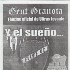 Collezionismo sportivo: FANZINE GENT GRANOTA 77 ULTRAS LEVANTE HOOLIGANS. Lote 199781053