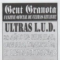Collezionismo sportivo: FANZINE GENT GRANOTA 83 ULTRAS LEVANTE HOOLIGANS. Lote 199781248