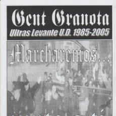 Collezionismo sportivo: FANZINE GENT GRANOTA 84 ULTRAS LEVANTE HOOLIGANS. Lote 199781370