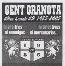 Collezionismo sportivo: FANZINE GENT GRANOTA 85 ULTRAS LEVANTE HOOLIGANS. Lote 199781397