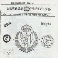 Coleccionismo deportivo: FANZINE ULTRAS VIOLETAS 1 VALLADOLID ULTRAS HOOLIGANS. Lote 199861455