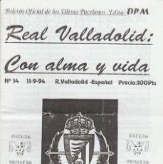 Coleccionismo deportivo: FANZINE ULTRAS VIOLETAS 14 VALLADOLID ULTRAS HOOLIGANS. Lote 199863463