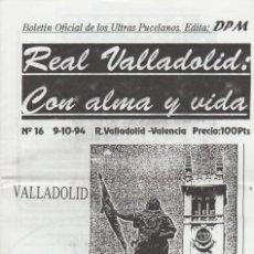 Coleccionismo deportivo: FANZINE ULTRAS VIOLETAS 16 VALLADOLID ULTRAS HOOLIGANS. Lote 199863537