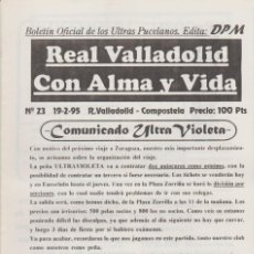 Coleccionismo deportivo: FANZINE ULTRAS VIOLETAS 23 VALLADOLID ULTRAS HOOLIGANS. Lote 199863926