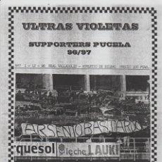 Coleccionismo deportivo: FANZINE ULTRAS VIOLETAS 7 VALLADOLID ULTRAS HOOLIGANS. Lote 199865221