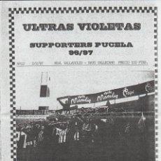 Coleccionismo deportivo: FANZINE ULTRAS VIOLETAS 12 VALLADOLID ULTRAS HOOLIGANS. Lote 199865362
