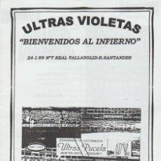 Coleccionismo deportivo: FANZINE ULTRAS VIOLETAS 7 VALLADOLID ULTRAS HOOLIGANS. Lote 199866442