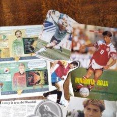 Colecionismo desportivo: RECORTES FUTBOL EUROCOPA 1992, MUNDIAL 1994, EUROCOPA 1996... JULEN GUERRERO, SALINAS, ROMARIO, KLIN. Lote 200032843