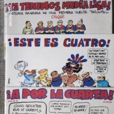 Coleccionismo deportivo: TIRAS HUMOR FUTBOL EL PERIODICO DIBUJADO POR OSCAR. Lote 200566248