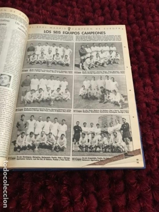 Coleccionismo deportivo: EL REAL MADRID CAMPEON DE EUROPA. ABC. COMPLETO. 37 FASCICULOS. - Foto 4 - 201119450