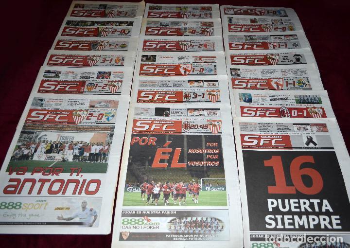GRAN LOTE PERIÓDICOS SEVILLA F.C. FÚTBOL. SFC. UEFA. SUPERCOPA. (Coleccionismo Deportivo - Revistas y Periódicos - otros Fútbol)